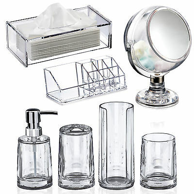 Serene | Acrylic Bathroom Accessory Set | Showerdrape | Fast & Free Delivery