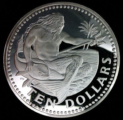Barbades 10 Dollars 1975 Argent Proof