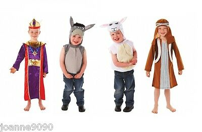Boys Girls Childs Sheep Lamb Tabard Nativity Play Fancy Dress Up Costume Outfit