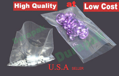 """1000~ 4x12"""" 2 Mil Clear Flat Open Top LDPE Poly Bag Industrial Retail Food Bags"""