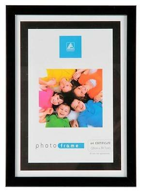 A4 Certificate Photo Picture Frame Black Or Silver Frames