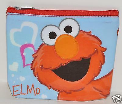 SESAME STREET ELMO COIN BAG COSMETIC CASE PURSE MINI wallet easter valentime gif