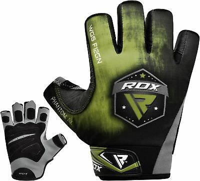 Rdx Leather Gym Gloves Fitness Weight Lifting Training Bodybuilding Straps