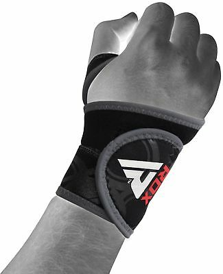 Auth RDX Neoprene Silicon Wrist Thumb Brace Support Gym Weight Lifting Wrap AU