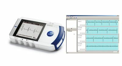 Omron HCG-801 Heartscan Portable ECG Heart Monitor Kit With Software