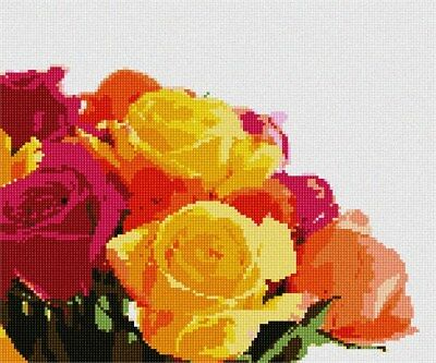 Floral//Flower//Nature Yellow Rose Needlepoint Kit or Canvas
