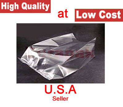 """1000~ 4X2X8"""" 2 Mil LDPE Clear Poly Bags Side Gusset Parts Produce Meat Packaging"""