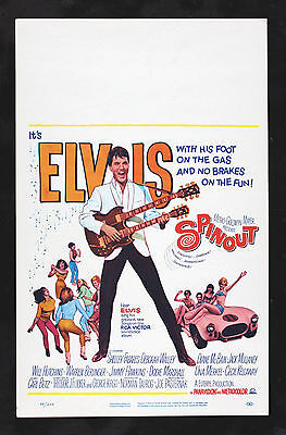 SPINOUT * CineMasterpieces ORIGINAL WC MOVIE POSTER ELVIS PRESLEY 1966