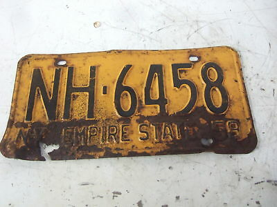 New York Car Tag License Plate 1958  Ford Chevy Mopar