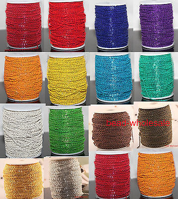 5m/100m Hot 14 Colors Cable Open Link Iron Metal Chain For Jewelry Craft Making