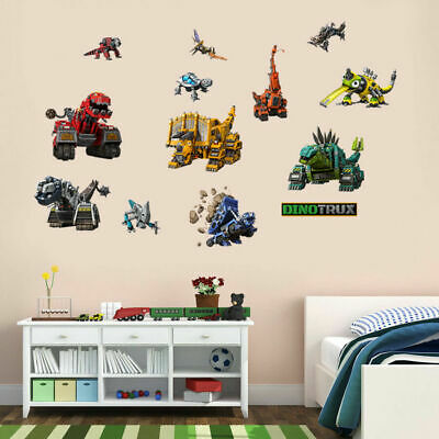 Dinotrux Dinosaur Wall Stickers Removable Character Kids Cartoon Decal Decor DIY