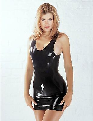 Sharon Sloane Latex Mini Dress Sexy Lingerie Rubber Fun Fancy Dress