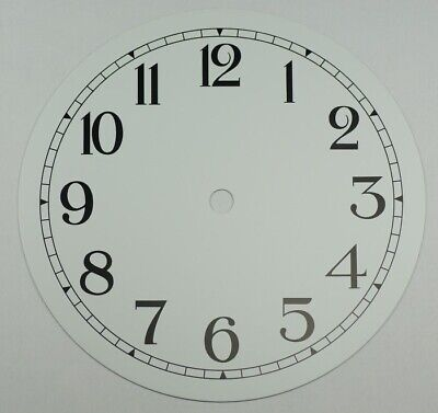 NEW white clock dial 7 inches 177mm aluminium black Arabic figures clocks repair • EUR 16,46