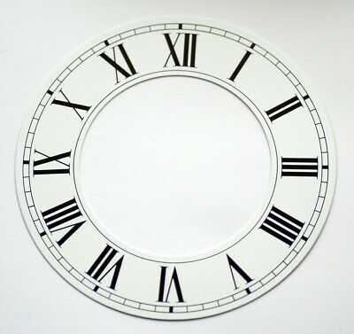 White clock CHAPTER RING roman numerals aluminium dial new 152mm 90mm clocks