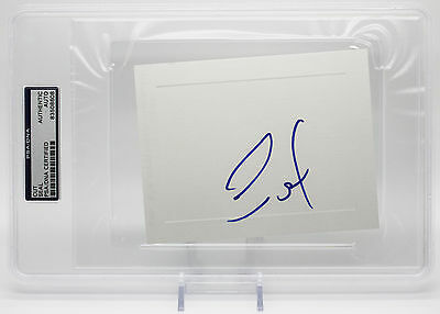 """Seal Signed 4""""X6"""" Card Kissed By A Rose Psa/Dna Encapsulated 83508608"""