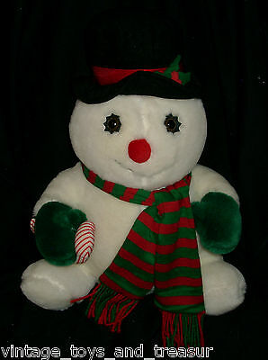 "16"" Vintage 1985 Christmas Amc Snowman Snow Man Stuffed Animal Plush Toy Holiday"