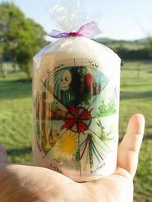 WHEEL OF THE YEAR CANDLE  PILLAR 100 mm Wicca Witch Pagan Spells
