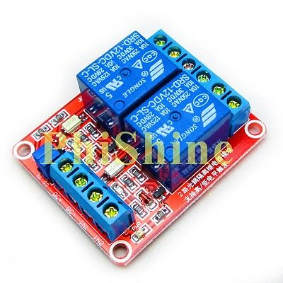 12V 2 Channel Relay Module With OPTO Isolation Support High Low Level Trigger