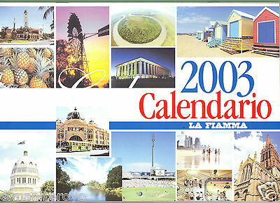 Calendario 2003 La Fiamma Quotidiano Comunita' Italiana In Australia 12 Foto