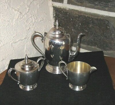 Silver plate coffee set Vintage English set by Sheet's R&S Co. very nice