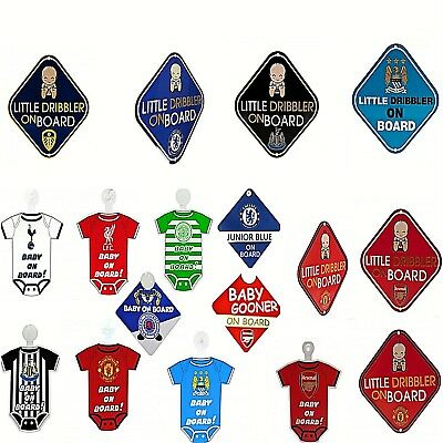 Football Club Team Mini Kit Baby On Board Car Safety Hanging Window Warning Sign