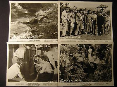 1959 Battle Of The Coral Sea VINTAGE 7 WW2 MOVIE PHOTO LOT 27E