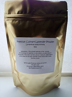 CULINARY DRIED LAVENDER flower POWDER 4oz Edible for cooking Fragrant/Flavorful