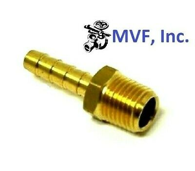"HOSE BARB for 3/16"" ID HOSE X 1/8"" MALE NPT HEX BODY BRASS FUEL FITTING  201A-3A"