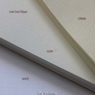 50 A4 sheets of LINEN / HAMMER CARD WHITE/ IVORY/CREAM 255GSM PRINTER COMPATIBLE