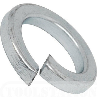 Zinc Plated Spring Lock Coil Washers  M5 M6 M8 M10 M12 Various Sizes & Quantity