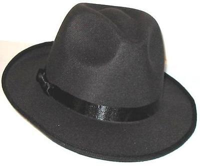MICHAEL JACKSON BLACK FEDORA HAT - BILLIE JEAN NEW!! Free Shipping
