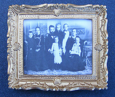 1:12 Framed Picture (Print) Of A Victorian FamilyDolls House Miniature Art
