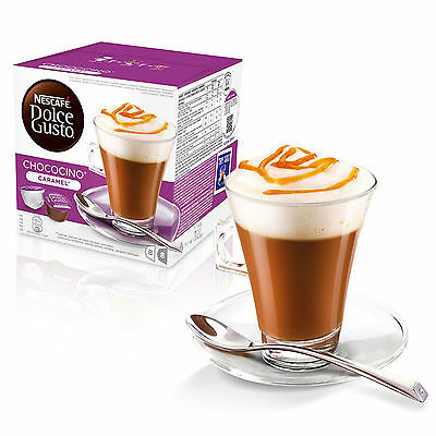 Dolce Gusto Choco Caramel (6 Boxes,Total 96 Capsules ) 48 Servings