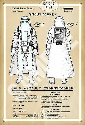 1982 Colorized Patent Print Art Star Wars Storm Trooper Childs Play Room Poster
