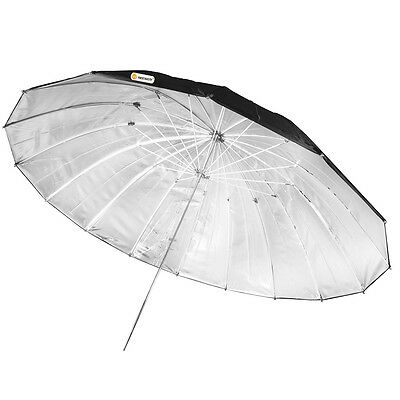 "Neewer Black Silver Pro 55"" Reflector Umbrella for Studio Light Flash"