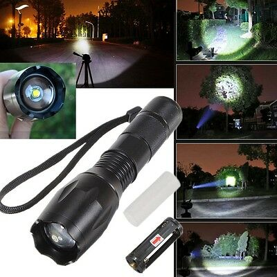 UltraFire CREE XM-L T6 LED 1600Lm Zoomable 18650 Mini Flashlight Torch 5 Modes