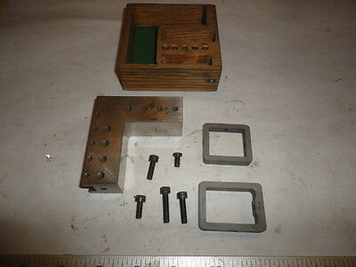 MACHINIST TOOL LATHE MILL Ground Precision MICRO Angle Block & Clamps JIG AUC20