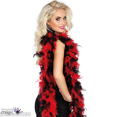 *Red and Black Ladybird Ladybug Feather Boa Fancy Dress Costume Accessory 180cm*