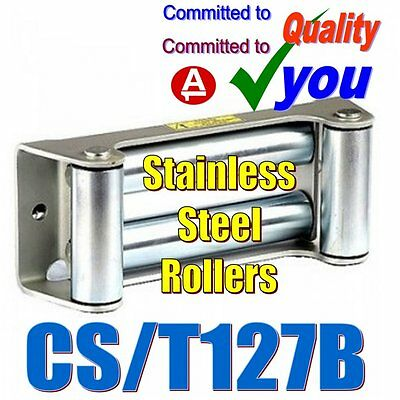 Winch Cable Hoist Fairlead Stainless Steel Rollers Recovery Trailer CS/T127B NEW