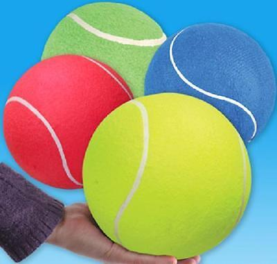 "JUMBO TENNIS BALL 8.5"" ASSORTED COLORS Dog Play Chew Toy #AA16 Free Shipping"