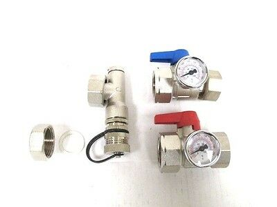 "Watts Radiant 1"" Stainless Steel Accessories Kit with 1""  Isolation Ball Valves"