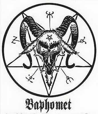 STICKER: BAPHOMET - Wicca Witch Pagan Goth Occult Punk New Age Spiritual
