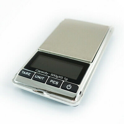 Digital Pocket Scales 500g 0.1g Jewellery Precision Electronic Lab Weight Grams