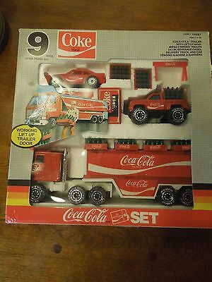 Vintage Coca Cola Steel Truck 9 Piece Set from Remco