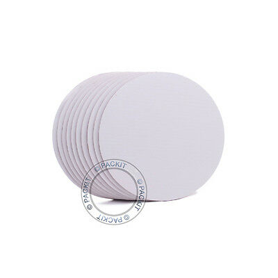 "25 x Cake Boards Round White 8"" Decoration Displays FREE SHIPPING"