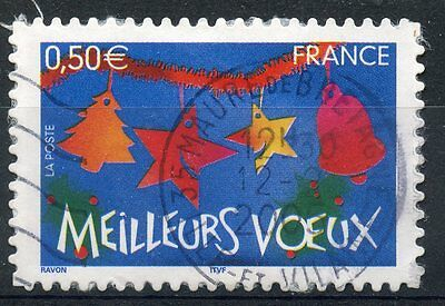 Stamp / Timbre France Oblitere N° 3725 Meilleurs Voeux / Autoadhesif