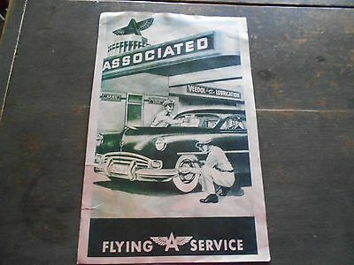 Vintage Associated Flying A Service Poster