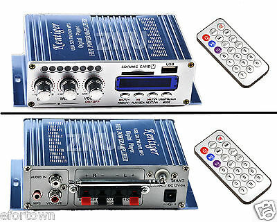 200W Digital Mini Hifi Stereo Amplificateur MP3 FM Amplifier Voiture Moto Remote