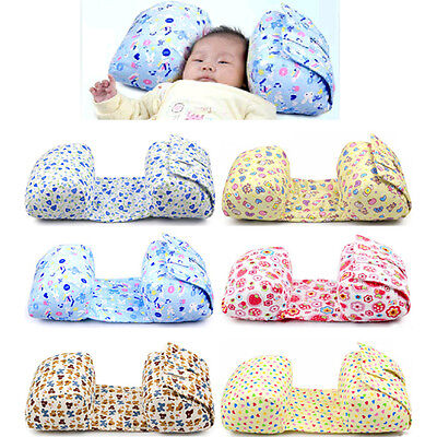 Baby Kids Newborn Cotton Sleep Positioner Prevent Flat Head Shape Pillow Support