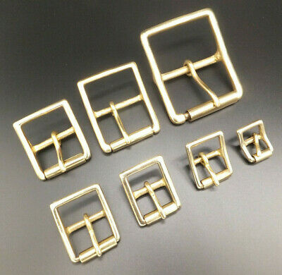 "SOLID BRASS MILITARY ROLLER BELT BUCKLE  Leathercraft  1/2"" - 2""  - 6 Sizes"